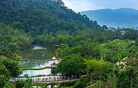 A lake in the Yanoda rain forest in China