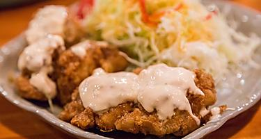Chicken nanban, deep fried chicken with tartar sauce, Sasebo, Japan