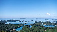 View of Kujuku Island (99 Islands) in Sasebo, Japan
