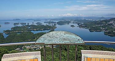 View from the Tenkaiho observatory in Sasebo, Japan