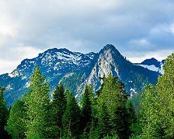 View of mountains in Seattle, Washington