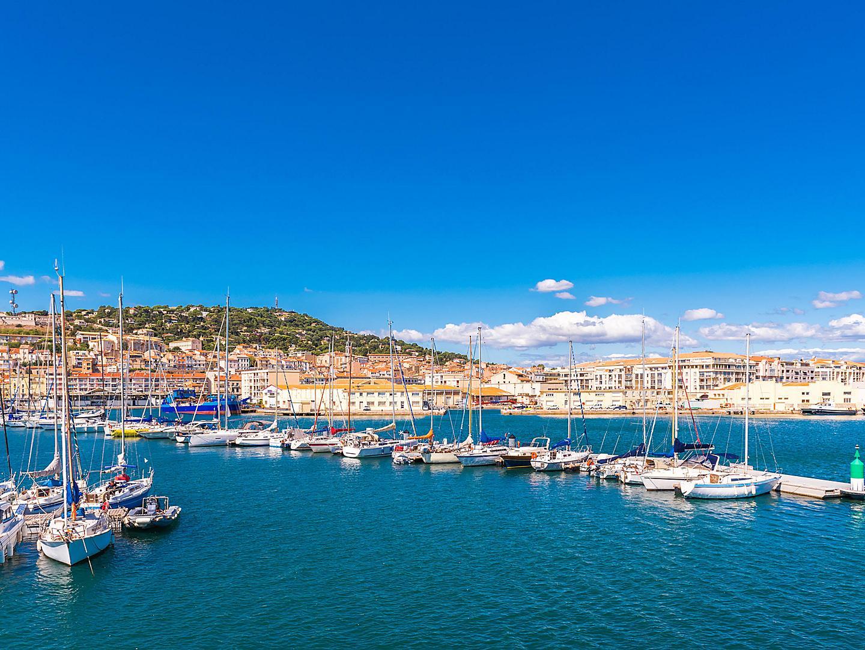 Sete, France, Panoramic harbor view