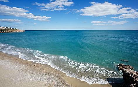 A pristine beach in Sete, France