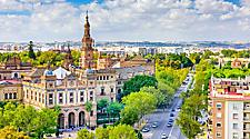 View of the Seville, Spain cityscape