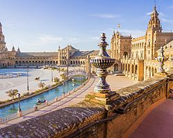 The Spain Square in Seville, Spain