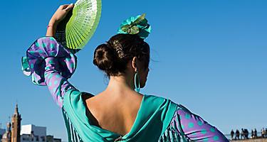 A flamenco dancer in Seville, Spain