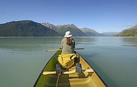 Kayaking the breathtaking Fjord national park on the Kenai Peninsula.