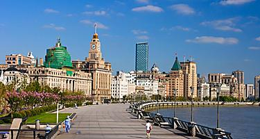 Historical buildings at the Bund in Shanghai, China