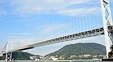 The Kanmon bridge at Shimonoseki, Japan