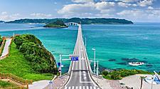 The Tsunoshima Ohashi bridge in Shimonoseki, Japan