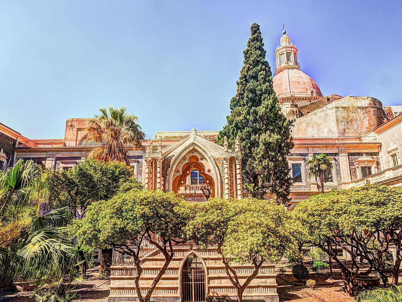 Sicily (Catania), Italy, Benedictine Monastery of San Nicolo l'Arena