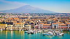 View of Catania in Sicily, Italy