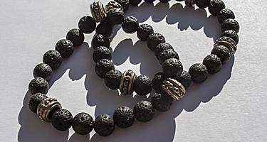 A volcanic stone bracelet