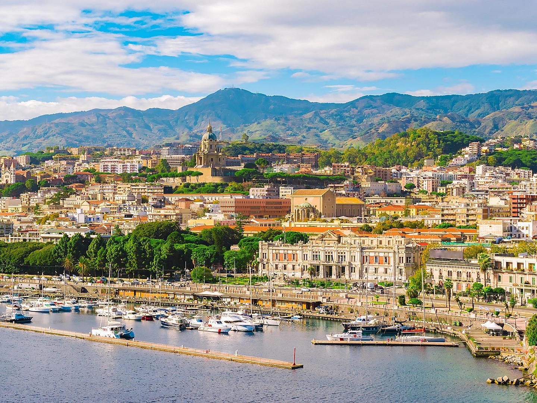 Sicily (Messina), Italy, Cityscape