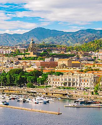 View of the Sicily (Messina), Italy cityscape