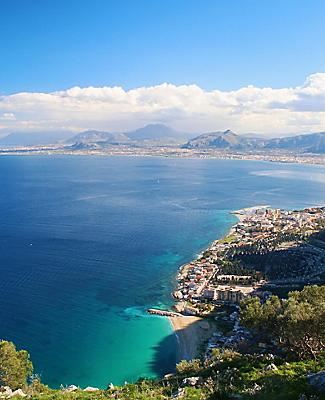 A panoramic view of Palermo in Sicily
