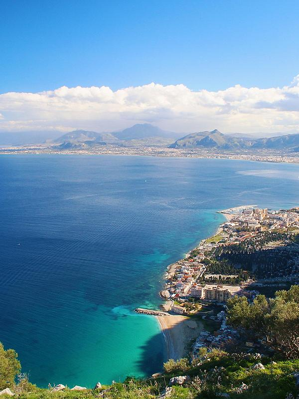 Sicily (Palermo), Italy, Panoramic view