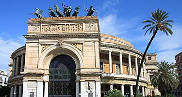 The Teatro Politeama Opera House in Palermo, Sicily