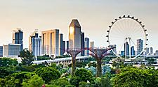Beautiful city view of Singapore from Skyway