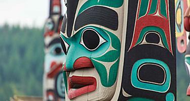 Shopping Local Artist Totem Pole, Sitka, Alaska