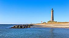 The Lighthouse of Skagen on the coast in Denmark