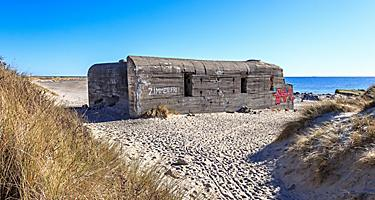 A World War 2 bunker at a beach in Skagen, Denmark