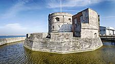 The historic Calshot Castle at the entrance of Southampton, England