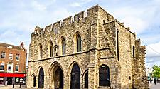 The Bargate medieval gatehouse in Southampton, England