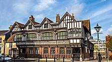 The exterior of the Tudor House in Southampton, England