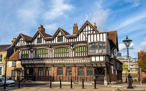 The exterior of the Tudor House in Southampton, England