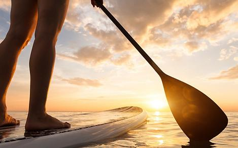 England Southampton Paddle Boarding at Sunset