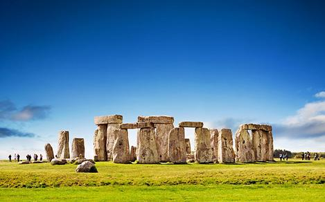 View of Stonehenge in England
