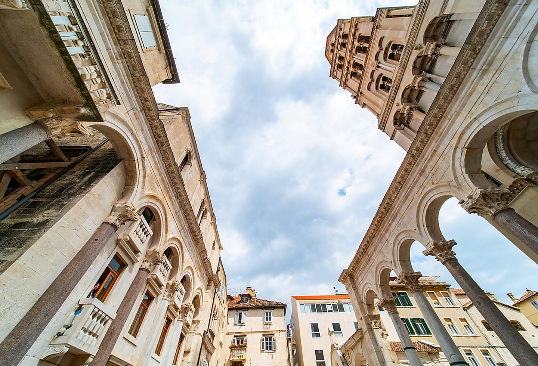 Croatia Split Town Square Historic Buildings