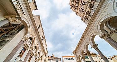 Croatia Diocletian Palace Tour Close Up