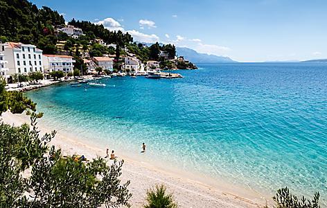 Split Croatia Coast Clear Blue Ocean