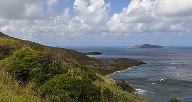 A view of buck island from Point Udall, St. Croix, U.S. Virgin Islands
