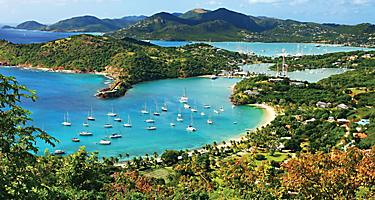 Yachts on the coastline of St. Johns, Antigua