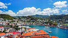 Sunny day view on the town of St. George's, Bermuda