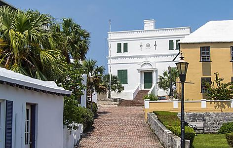The State House in St. George's, former home of Bermuda's parliament, in St. George's, Bermuda
