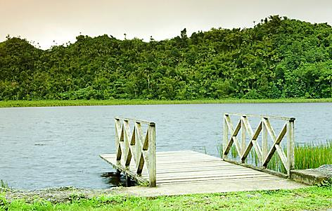 Dock on Grand Etang Lake in St. George's, Grenada