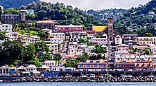 Antilles, Lesser Antilles, Grenada, view to St. George's, Grenada