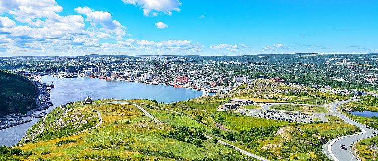 Aerial view of St. John's, Newfoundland