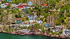 Cliffside homes in St. John's, Newfoundland