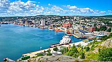 View of the harbor and coast at St. John's, Newfoundland