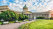 The Kazan Cathedral in St. Petersburg, Russia