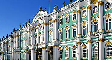 Front of the Winter Palace in St. Petersburg, Russia