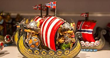 A souvenir viking boat