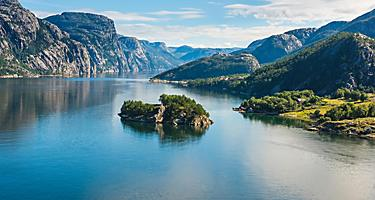 Panoramic view of Lysefjord in Norway