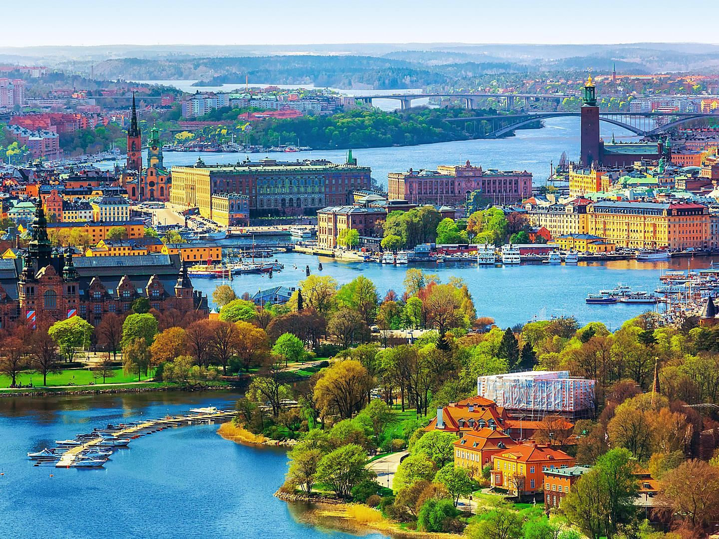 Stockholm, Sweden, Aerial panoramic view