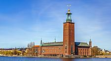 View of the Stockholm City Hall in Sweden